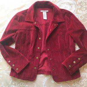 A.M.I burgundy corduroy Jacket size M